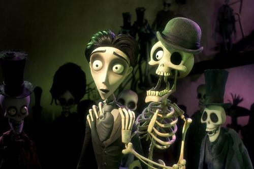 Bonejangles with Victor in a scene from Tim Burton's The Corpse Bride