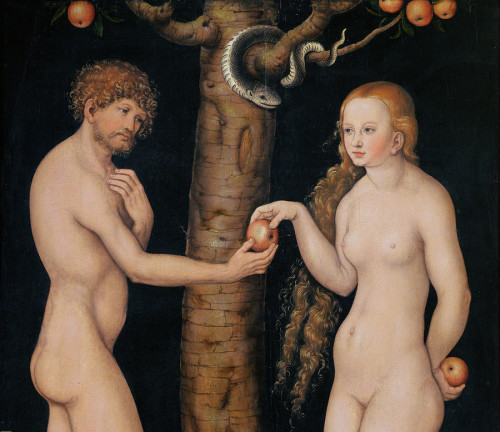 The Elder Lucas Cranach: Eve Offering the Apple to Adam