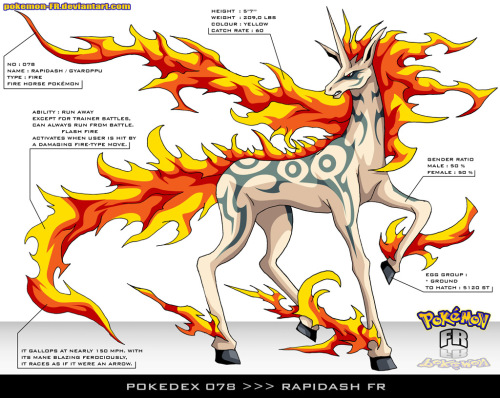 Pokedex 078  Rapidash, a Menagerie of Transforming Characters at Deviant Art