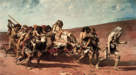The Flight of Cain by Fernand Cormon (1880)