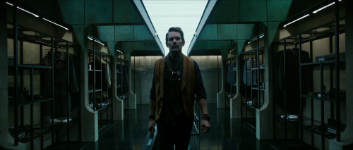 Ethan Hawke as The Bartender/Temporal Agent in Predestination (2014)