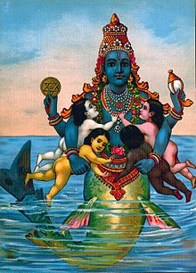 Matsya with the Vedas as Infants