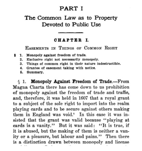 The Common Law as to Property Devoted to Public Use