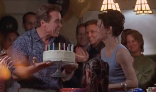 The 6th Day (2000): Adam Gibson's Clone with Adam's Birthday Cake, Wife, and Daughter