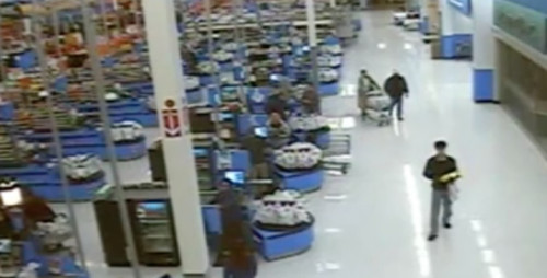 "Wal-Mart ""Tracks"" and ""Captures"" ""Footage"" of Ben Gilmore as if He's a Wild Animal"