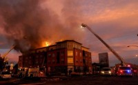 Fort Collins Buildings on Fire, October 24, 2011