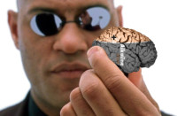 Morpheus with Human Brain - The Matrix Energy Source