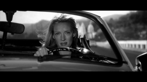 Reminiscent of Steve Martin Behind the Wheel in All of Me, Uma Thurman Exercises Her Right to Travel in Quentin Tarantino's Kill Bill