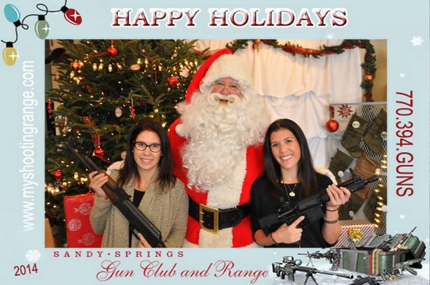 George Gun Range Offered Photo Op with Santa and Guns in 2014