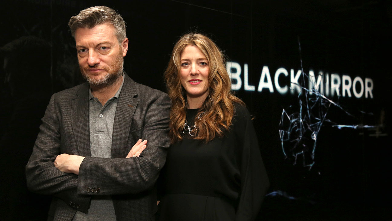 Charlie Brooker and Annabel Jones May 19, 2017, in Los Angeles. Photo by Blair Raughley/Invision for Netflix/AP Images