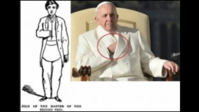 The Pope Demonstrates the Sign of the Freemasonic Hidden Hand