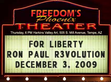 Freedom's Phoenix sponsored the premiere of For Liberty